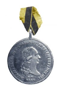 Figure 3: Olmutz Military Medal on ribbon. Image from the author's archive