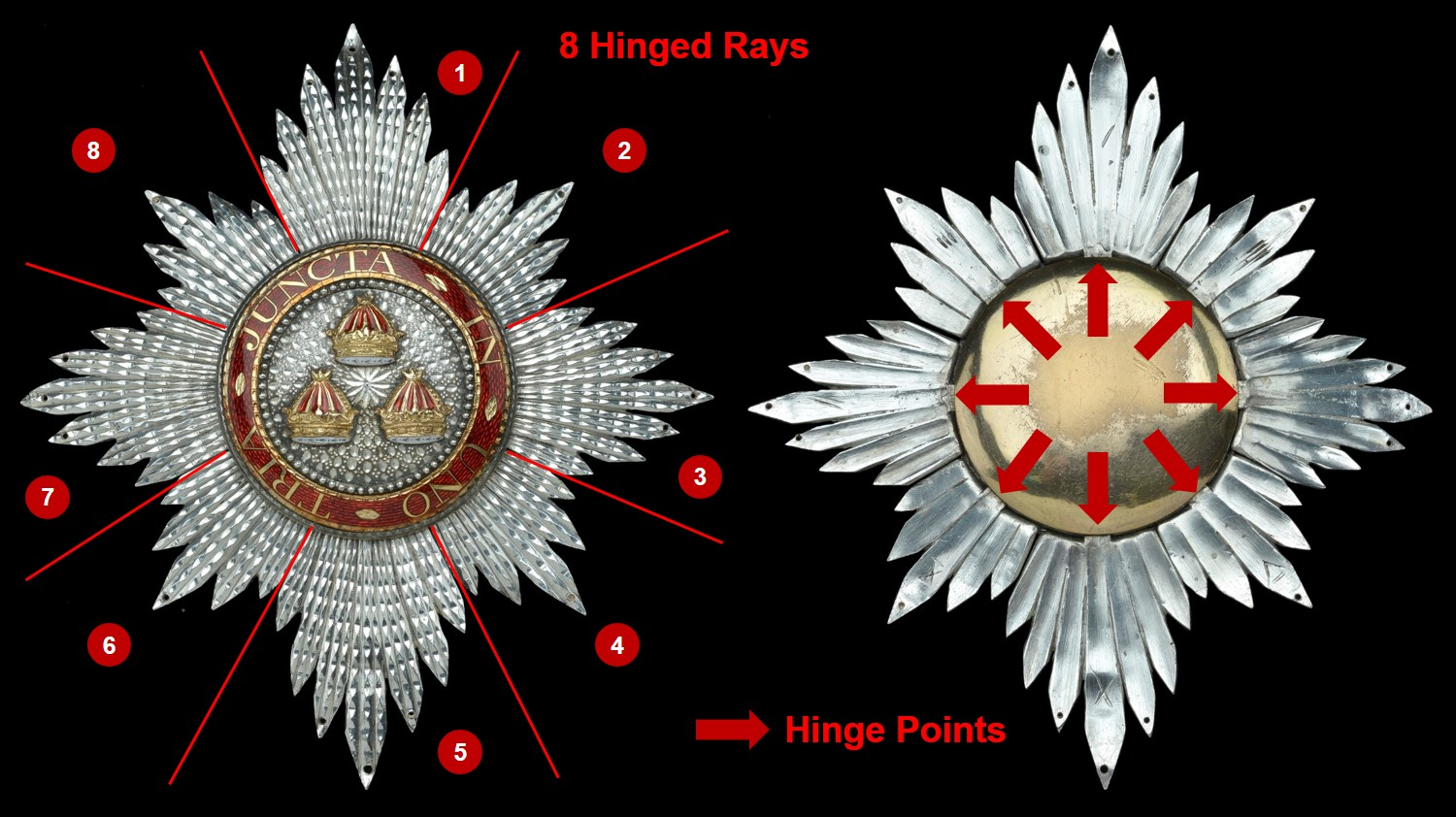Figure 2 – Star of the Knight Companion of the Bath (K.B.). Base image courtesy of DNW.