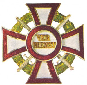 Military Merit Cross First Class with war decoration first class and (silver) swords of a lower class (December 13, 1916-1918)