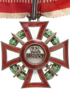 Military Merit Cross Second Class with war decoration second class and (silver) swords third class (December, 13 1916-1918)