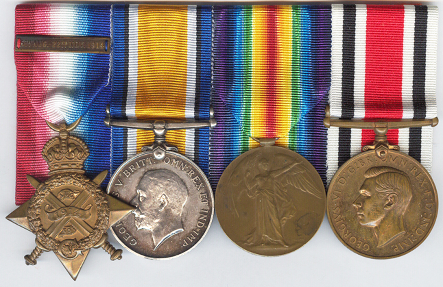The medal group to Major William Graham Curling, RFA with a Type I Victory Medal issued on 20 November 1920.