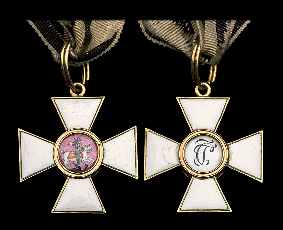 Figure x - Fourth Class Order of St. George awarded to Colonel Sir Colin Campbell.. Image courtesy of DNW