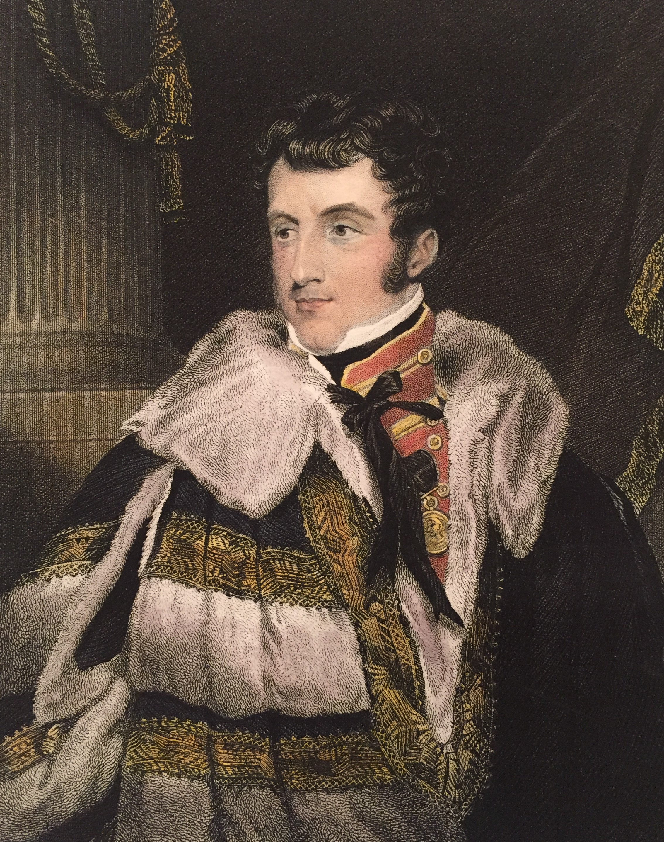 Figure 6 – Charles Gordon Lennox, the 5th Earl of Richmond shown wearing his Waterloo Medal (circa 1824). Image from author's archive.
