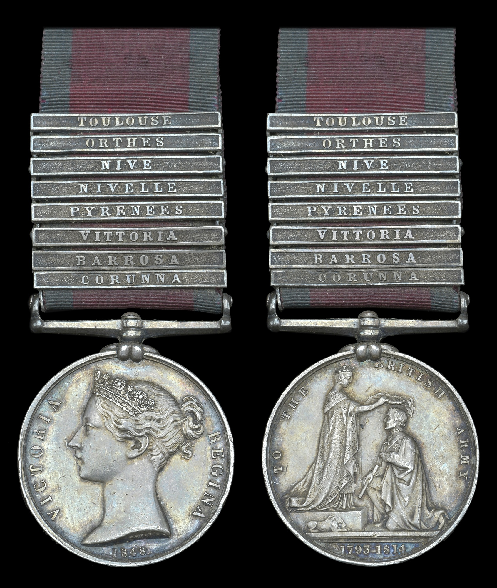 Figure 3 - Military General Service Medal Obverse(left) and Reverse (right). Image courtesy of DNW.