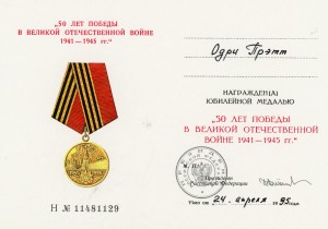 Russian 50th Anniv to US Nurse