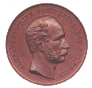 Figure 8, Prince Alexander von Hess on Rhein, Military Maria Theresia Order, Knights Cross Commemoration Medal, obverse, Bronze, Image from the authors archive