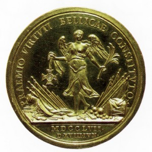 Military Maria Theresia Order Gold Foundation Medal, reverse, Picture from the authors photo archive