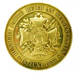 Figure 4: Military Maria Theresia Order 100 Year Jubilee Medal, Reverse, Gold, Image courtesy of Dorotheum