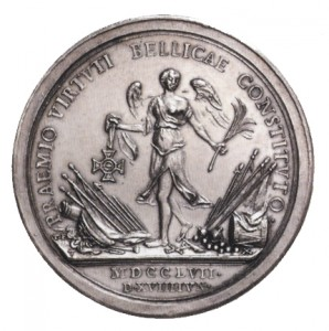 Military Maria Theresia Order Silver Foundation Medal, reverse, Picture from the authors photo archive