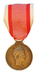 Figure 6: 1839 Bravery Medal on the war ribbon. Image from the author's archive