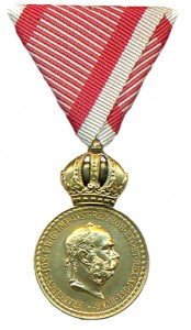 Figure 9: Military Merit Medal on war ribbon: Image from author's archive