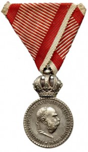 Figure 10: Silver Military Merit Medal on war ribbon. Image from author's archive