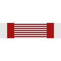 Figure 8: Red and White laddered ribbon. Image from author's archive
