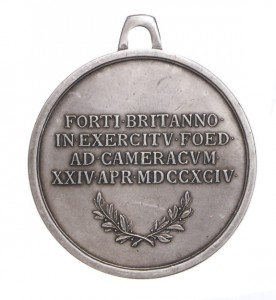 Figure 11: Honor Medal for English Cavalrymen, Type II Reverse. Image courtesy of Dorotheum