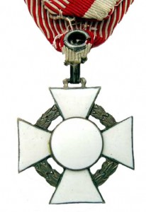 Figure 2: Military Merit Cross with war decoration, reverse. Image courtesy of Dorotheum