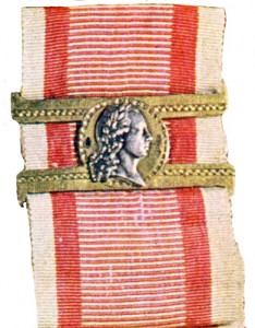 Figure 5: Clasp associated with the 1809-1839 Bravery Medal. Image attributed to Vaclav Mericka, Orden Und Ehrenzeichen, Anton Schroll & Co