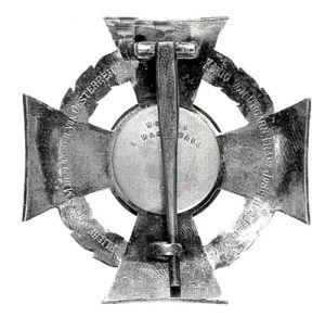 Figure 4: Military Merit Cross reverse. Image from the author's archive.