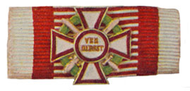 Figure 11: Ribbon for the Military Merit Cross first class with war decoration first class and swords of a lower class. Image from the author's archive.