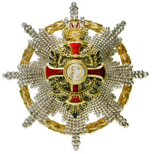 Figure 10: Imperial Austrian Franz Joseph Order grand cross star and star to the commander with star with war decoration. . . Image courtesy of Dorotheum