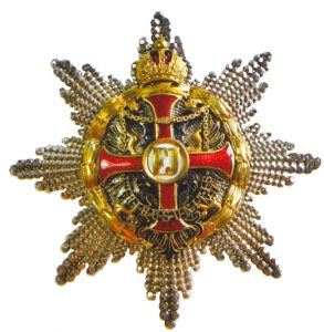 Figure 11: Imperial Austrian Franz Joseph Order grand cross star and star to the commander with star with war decoration of a lower class. Image from the author's archive.