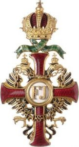 Figure 9: Imperial Austrian Franz Joseph Order, officer cross with war decoration.Image courtesy of Dorotheum