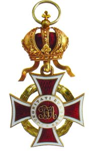 Figure 4: Austrian Imperial Order of Leopold Badge with war decoration of a lower class: Image from the author's archive