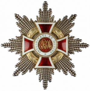 Figure 2: Austrian Imperial Leopold order, grand cross with war decoration of a lower class. Image from the author's archive