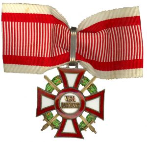 Military Merit Cross First Class with war decoration and swords. Image from the author'z archive