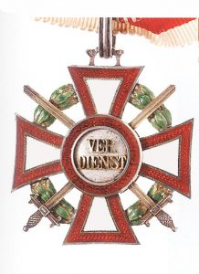 Figure 3: Military Merit Cross second class with war decoration second class and swords third class. Image courtesy of Dorotheum.
