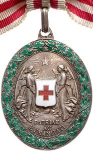 Figure 24: Red Cross Silver Merit Medal with war decoration. Image courtesy of Dorotheum
