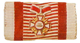 Figure 10: Ribbon for the Military Merit Cross Second class with war decoration and swords third class. Image from the author's archive