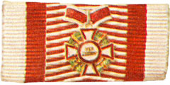 Figure 9: Ribbon for the Military Merit Cross Second class with war decoration and swords second class. Image from the author's archive