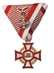 Figure 5: Second class kleiner with second award of the second class war decoration. Image from the author's archive