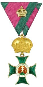 Figure 5: Order of St. Stephan, commander Kleine Badge. Image from the author's archive.