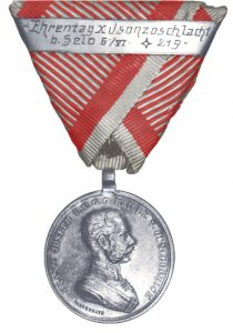 Figure 6: Franz Joseph Silver Bravery Medal, second class with presentation second award bar. Image from the author's archive.