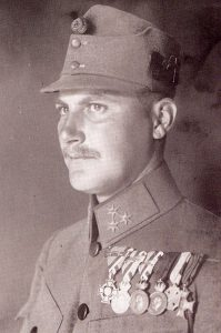 Figure 20: Hauptman Josef Flicker, Commander of the 17th Assault Battalion wearing the Military Merit Cross third class with second award bar and war decoration and swords. Image from the author's archive.