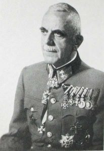 Feldmarschalleutnant Vladimir Laxa Wearing the Military Merit Cross third class with war decoration and swords and the Military Merit cross third class.