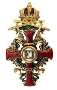 Figure 12: The Order of Franz Joseph, Officer badge with war decoration and swords. Image from the author's archive.