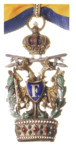 Figure 8: The Order of the Iron Crown, Knight Second Class badge with war decoration and swords third class. Image courtesy of Dorotheum .