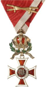 Figure 13: The Order of Leopold Knight with war decoration and swords. Image from the author's archive.