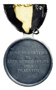 Figure 3: Large Silver Merit Medal for Royal and Imperial Military Doctors and Regimental Surgeons reverse. Image from author's archive.