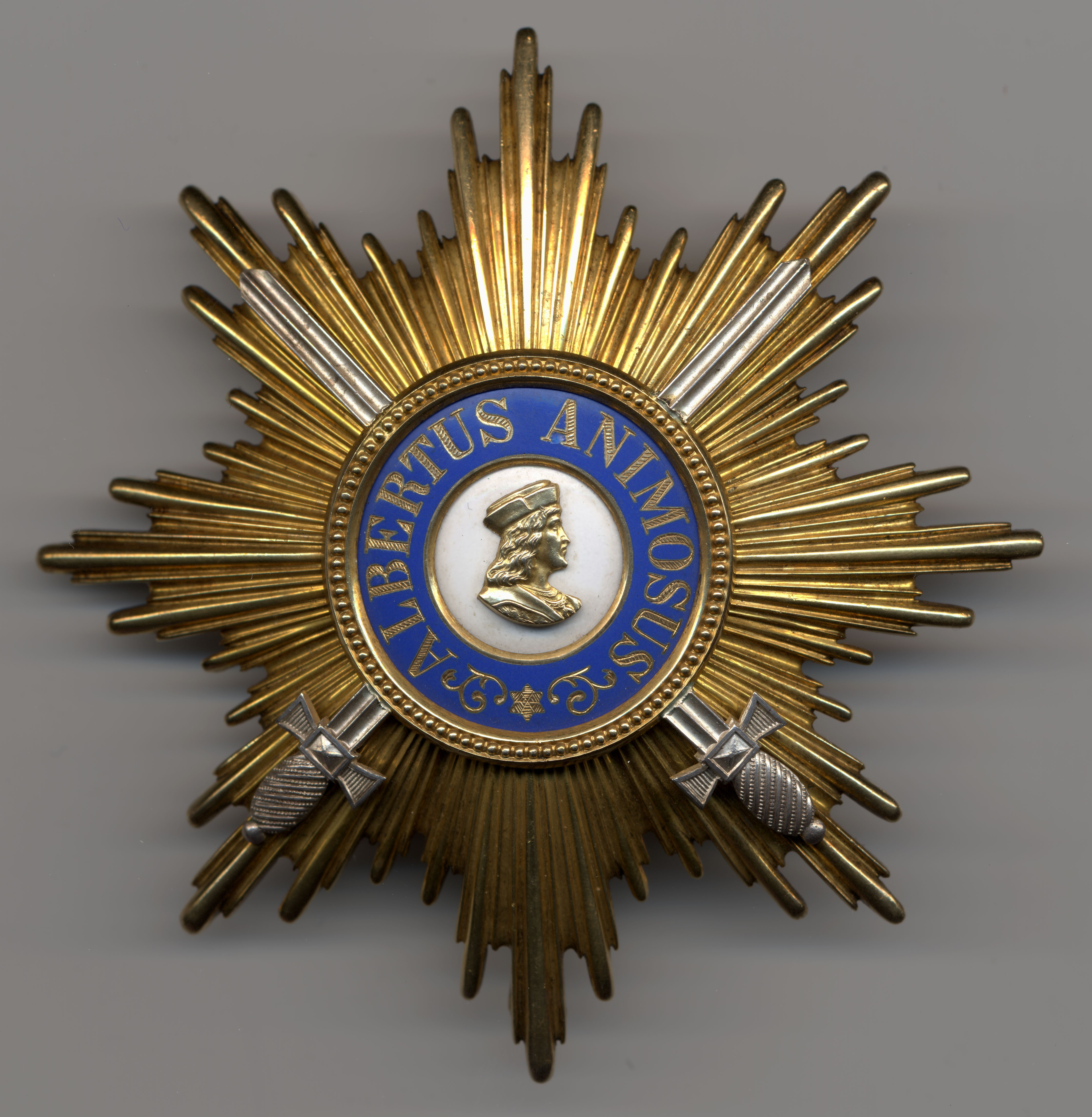 Golden Grand Cross Star with Swords