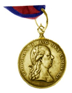 Figure 1: Large Gold Limburg Volunteers Medal. Image from the author's archive.
