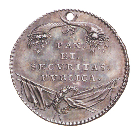 Figure 3: Emperor Leopold II Silver Military Merit Medal for the Netherlands, reverse. Image courtesy of  Dorotheum.