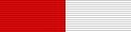 Figure 4: Ribbon for the Emperor Leopold II Silver Military Merit Medal for the Netherlands, Image form the author's archive.
