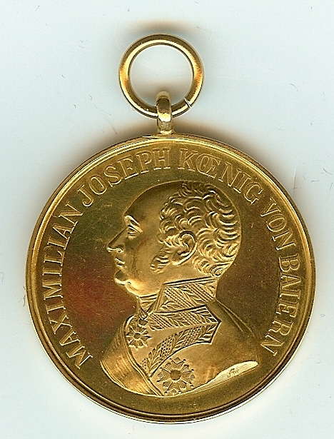 Figure 6-Obverse of Adolf Fichtner's Gold Bavarian Bravery Medal. Image from author's archive.