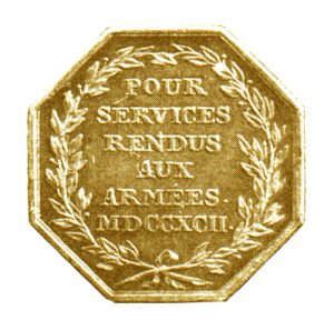 Figure 3: Gold Commemoration Medal for Volunteers of the Netherlands Provence, Reverse. Image attributed to Reference Catalogue Orders, medals and decorations of the World, A-D, Borna Barac