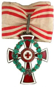 Figure 1: Red Cross Decoration , first class with war decoration. Image from the author's archive.