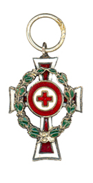 Figure 7: Red Cross Decoration , first class with war decoration, miniature. Image from the author's archive.
