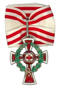 Figure 8: Red Cross Decoration , first class with war decoration. Image from the author's archive.